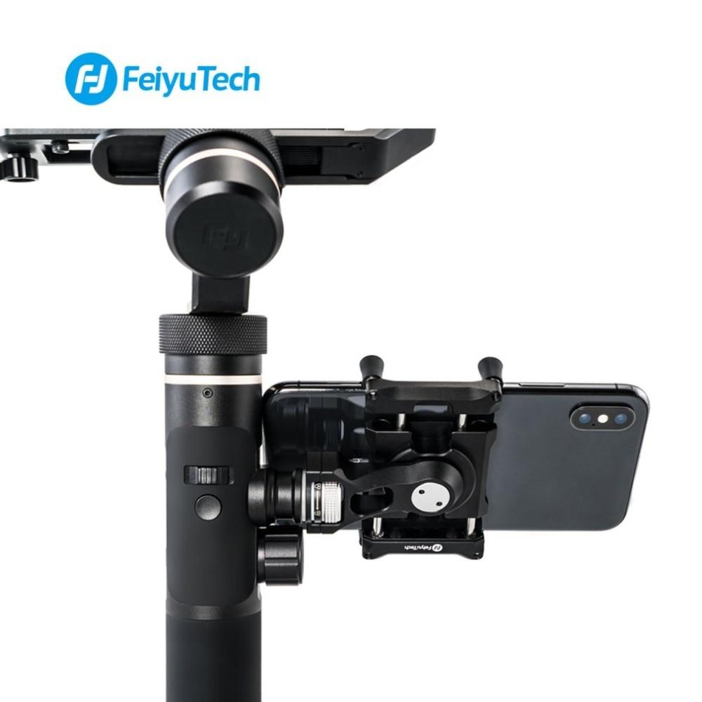 Feiyu adaptateur de support de téléphone pour SPG2 G6 G6 Plus support Clip support à pince pour caméra d'action cardan pour IPhone