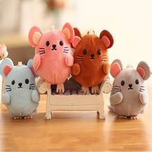 Mini Cute Little Mouse Doll Plush Stuffed Toy Rat Hamster Rag Bag Key Small Pendant Children Charm