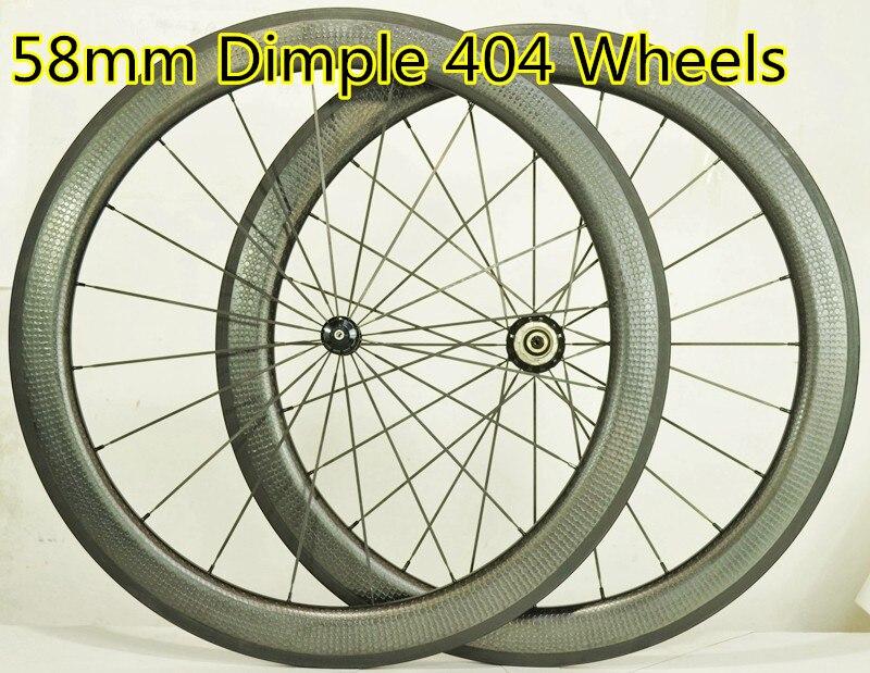 carbon dimple wheels New ZIP 58mm road bike wheelset 25 width R36 rear hub with dimple brake surface quantum s top road hub ql z52f rear hub ql z91r