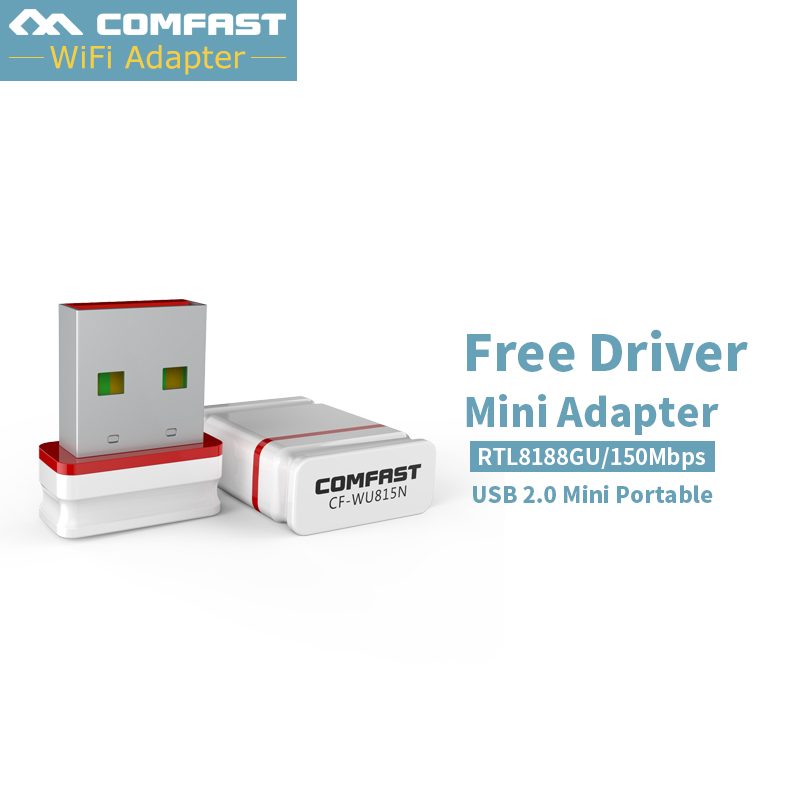 Comfast 150Mbps Mini USB Wifi Wireless Network Adapter Desktop Computer Card 802.11 B/G/N LAN Dongle PC USB Wi-fi Receiver 815N comfast 1200mbps usb3 0 wi fi dual band 802 11ac a b g n wireless n 11ac 2 4g 5 8g wifi adapter rtl8812 network pc wifi receiver
