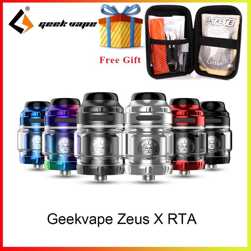 Vape tank Geekvape Zeus X RTA 4,5 ml tank kapazität mit 810 tropf spitze Elektronische zigarette zerstäuber vs zeus dual zerstäuber