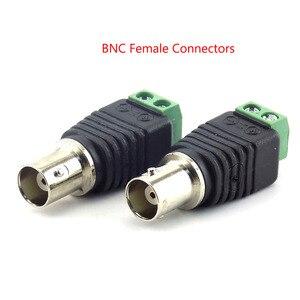 Image 5 - 2/5/10 pces 12v dc bnc macho fêmea conector coax cat5 para bnc plugue fêmea para luzes de tira led vídeo balun cctv câmera acessórios