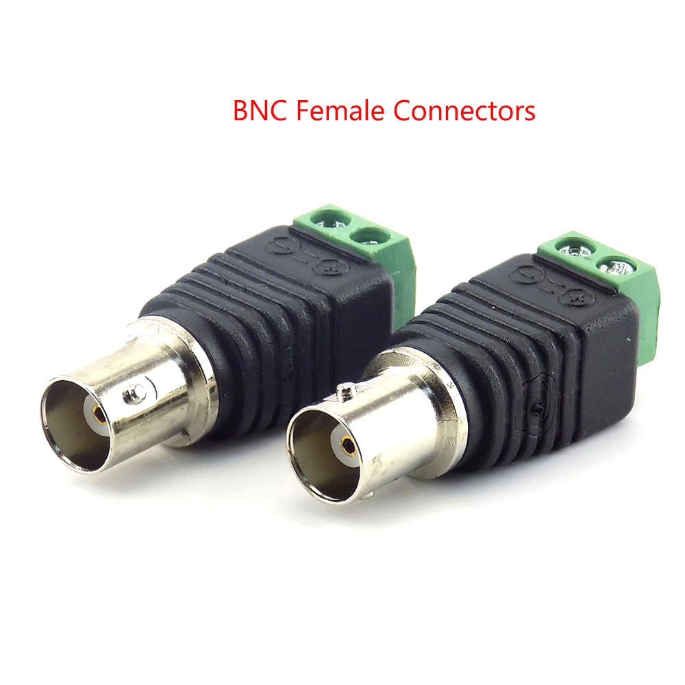 Image 5 - 2/5/10pcs 12V DC BNC Male female Connector Coax Cat5 to BNC Female Plug for Led Strip Lights Video Balun CCTV Camera Accessories-in Transmission & Cables from Security & Protection