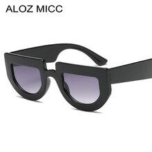 ALOZ MICC Fashion Cat Eye Sunglasses Women 2018 Brand Designer Sexy Semi Frame Flat Top