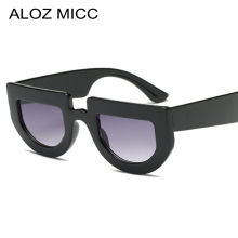 ALOZ MICC Fashion Cat Eye Sunglasses Women 2018 Brand Designer Sexy Semi Frame Flat Top Sun Glasses Female Oculos UV400 Q617