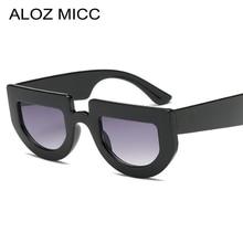 ALOZ MICC Fashion Cat Eye Sunglasses Women 2018 Brand Designer Sexy Semi Frame Flat Top Sun Glasses Female Oculos UV400 Q617