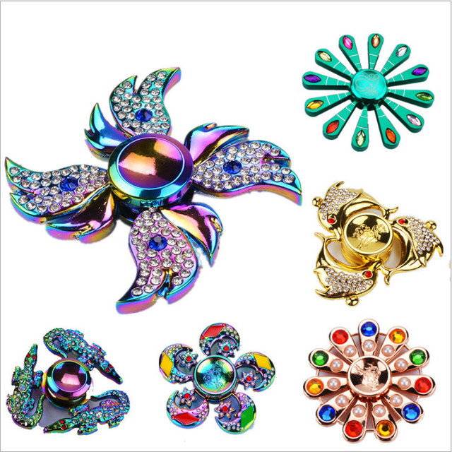 2017 Rainbow Angel Wings Dolphin Handspinner Fid Spinner Hand