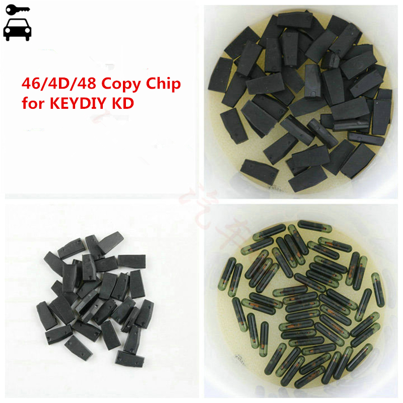 High Quality 10pcs lot KD 4C 4D 46 and 48 Copy Clone Chip Transponder Special for KEYDIY KD-X2 KD X2 Key Programmer Cloner