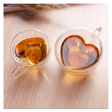 180ml/240ml Heart Love Shaped Lover Coffee Double Wall