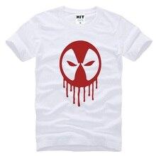 2016 New Summer Men s Deadpool T shirt men cotton Tops Superhero Printing Fashion Short sleeve