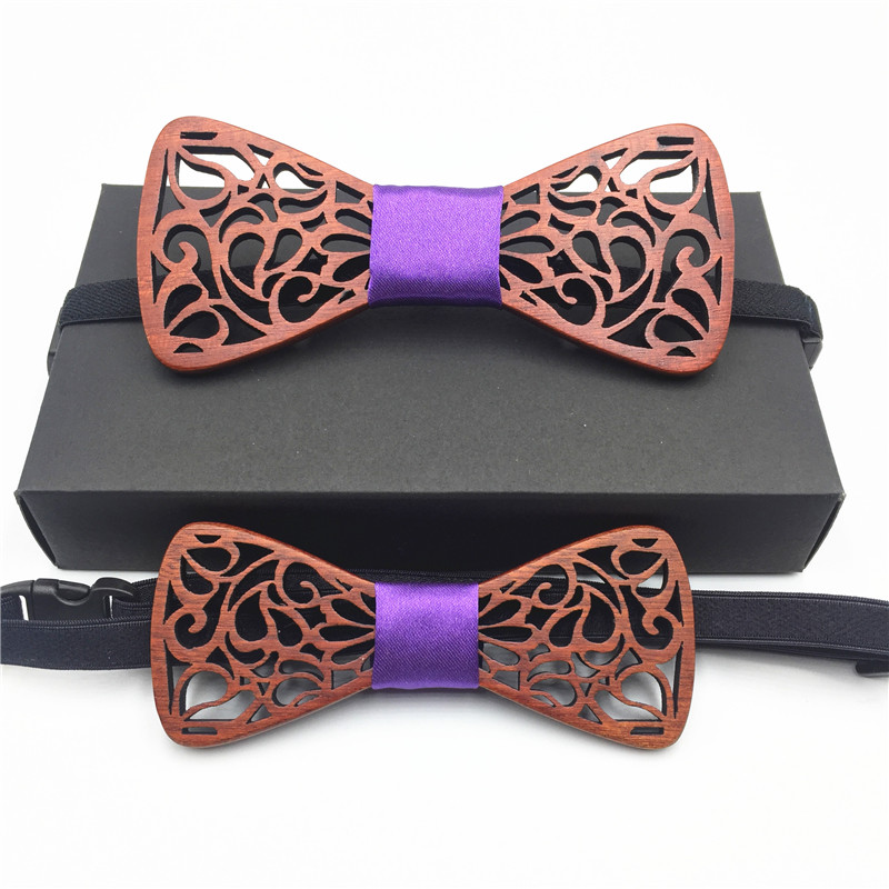 2018 Set New Classic formal Hollow Beard wings noble Wood Bow Ties for Mens Wedding Suits Wooden Bow Tie Butterfly Bowknots