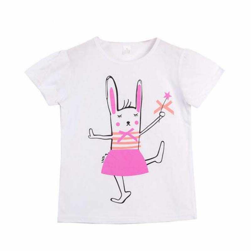 ユニコーンのための 2-7 年新綿のプリント子供のシャツ快適な半袖夏はブラウス服
