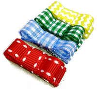 Small ribbons Bow Clip .Tiny Bow Snap Hair Clip 100pcs