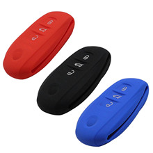 Remote 3 Buttons Silicone Car Key Cover Case for Volkswagen VW Touareg Holder