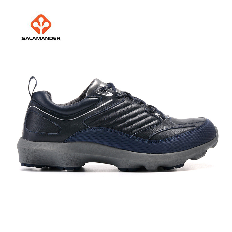 SALAMANDER Men's Leather Outdoor Hiking Trekking Sneakers Shoes Footwear For Men Winter Climbing Mountain Sneakers Man humtto new hiking shoes men outdoor mountain climbing trekking shoes fur strong grip rubber sole male sneakers plus size