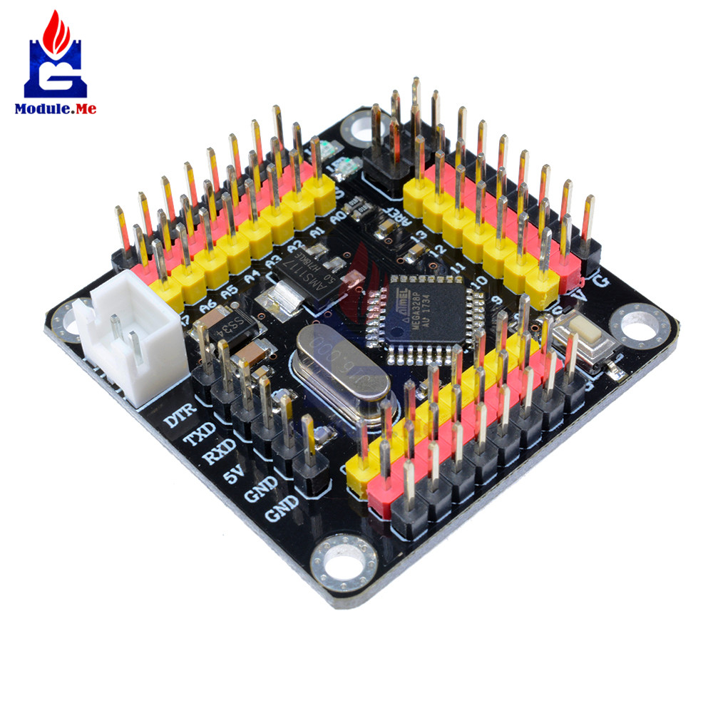 DM Strong Series Atmega328 Controller Module Pro Mini <font><b>5V</b></font> 16Mhz <font><b>Board</b></font> <font><b>5V</b></font> for Arduino Atmega328p Microcontroller Diy Kit I/O Pins image