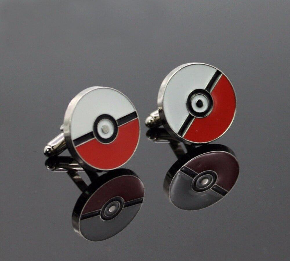 Free Shipping Pokemon Cufflinks Wholesale&retail Novelty Game Monster Design Quality Brass Material Best Gift For Men