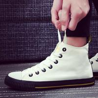 Fooraabo Brand Fashion 2017 Autumn Shoes Men Sneakers Black High Top Canvas Shoes For Male Shoes Tenis Masculino Adulto