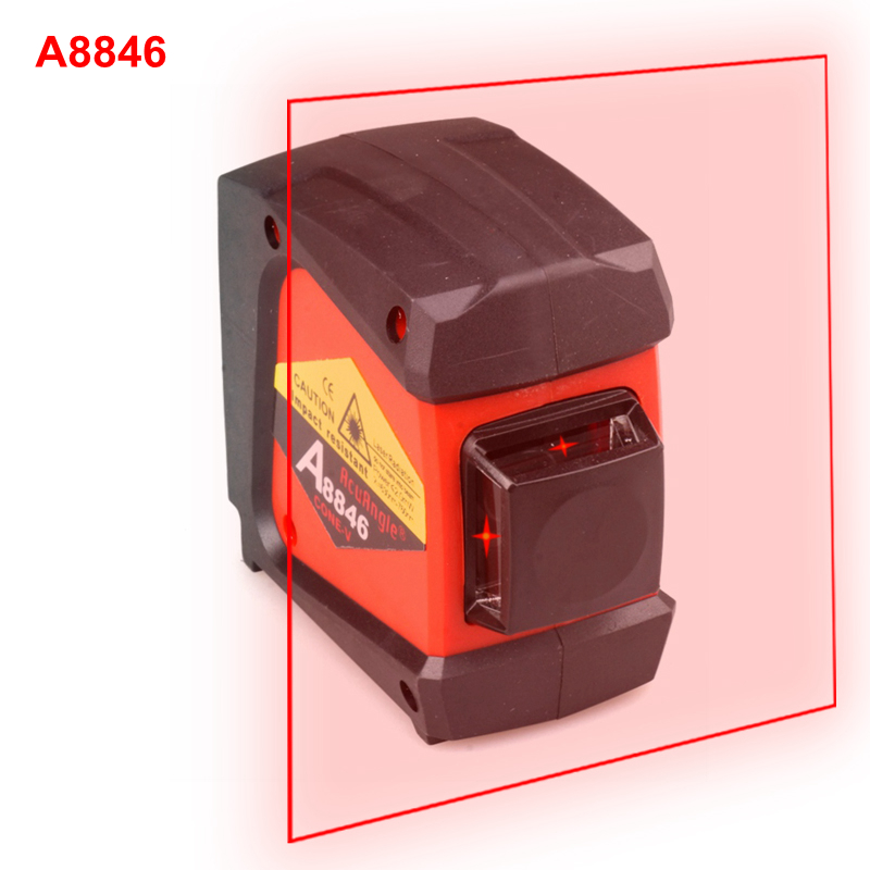 AcuAngle A8846 660nm Red Laser Level 4 lines 360 degrees Wall Meter Laser Levels Gravity Leveling Instrument