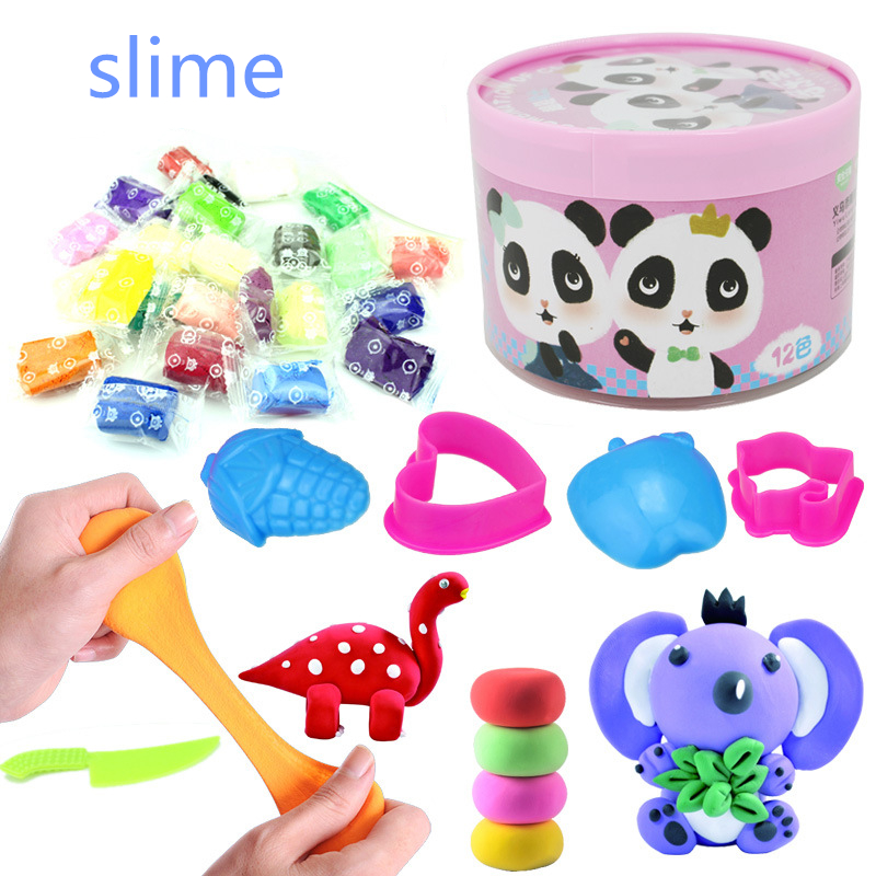Colorful Fluffy Foam Slime Clay Kids Modeling Clay Toys Educational Toys Soft Cotton Clay Magic Sand Toy Intelligent Plasticine Modeling Clay