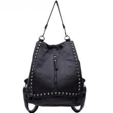 Великолепные женские ИСКУССТВЕННАЯ кожа большие рюкзаки женские сумки на ремне, школа сумка, временный сумка ulzzang