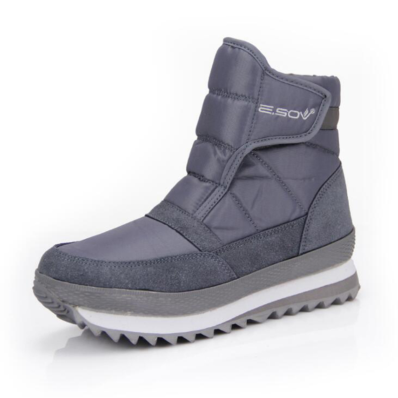 Negro Blue gris Nieve Cálido light Negro Hook amp; wine Impermeables 2018 Felpa Moda Mujer Loop navy Botas Antideslizantes Tobillo Invierno Zapatos rose Red Red De Blue pwqFwaU