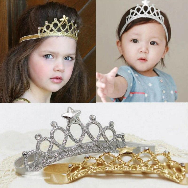 4 inch Kids Rainbow Hairbands Princess Hair Accessories Tiara Girl Headband