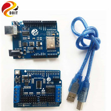 Official DOIT Robot Arm Controller Kit Development Board Compatible with Arduino UNO R3 for Control 2-way Motor & 16-way Servo