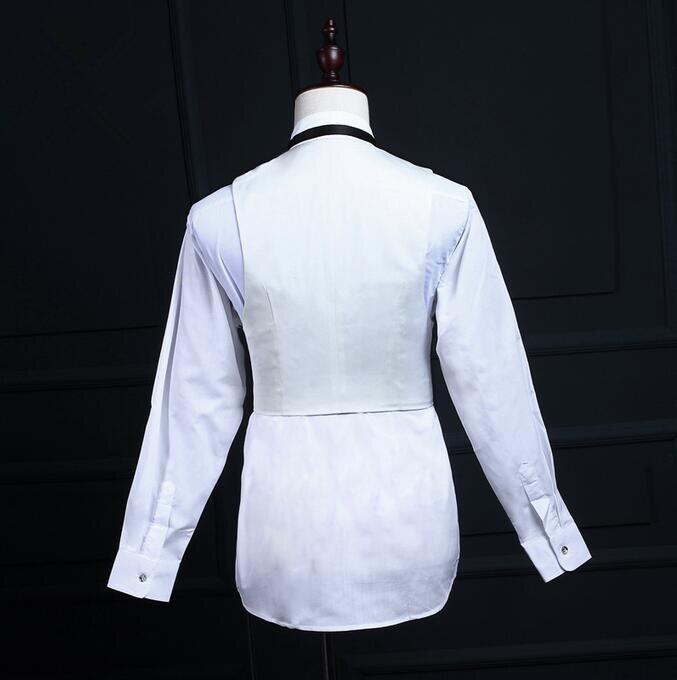Pants White VestWedding WholesaleNew Suitsjacket Style Slim Party Tailcoat Vest Black Business Men Fit yOPnwNvm80