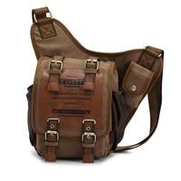 Hot Sell KAUKKO Brand Men Retro High Quality Canvas Bag Sports Hiking Travel Men Messenger Bags