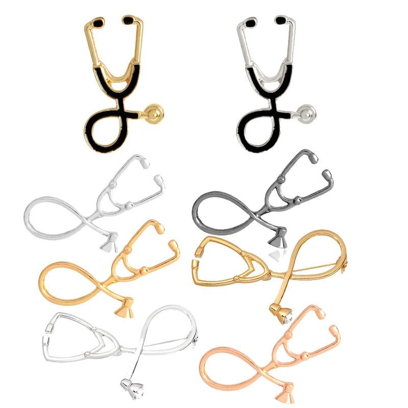 Fashion Broche Infirmière Étudiant Cadeau Stéthoscope Médical Bijoux Broche