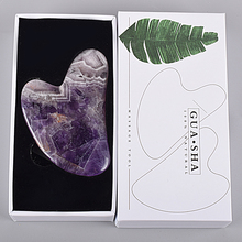 Amethyst Facial Care Tool Massage Gua Sha Tool Natural Stone China Traditional SPA Acupuncture Scrap