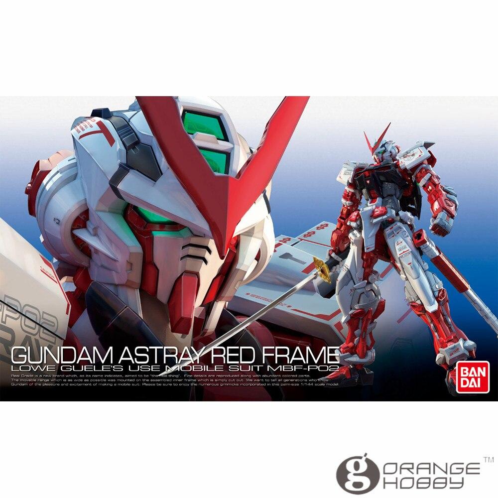 Bhp Bandai RG 19 1/144 MBF P02 Gundam na manowce czerwona ramka komórka garnitur Model montażu zestawy oh w Zestawy modelarskie od Zabawki i hobby na  Grupa 1
