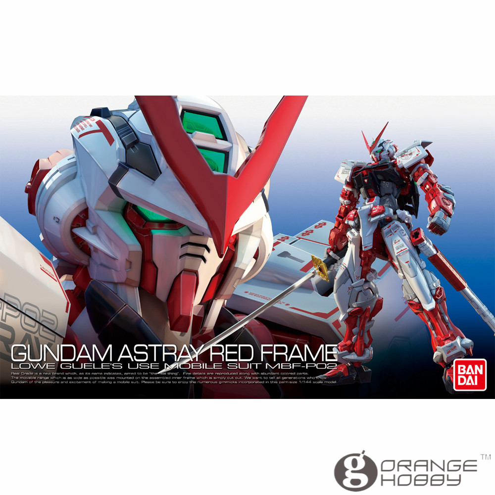 OHS Bandai RG 19 1/144 MBF-P02 Gundam Astray Red Frame Mobile Suit Assembly Model Kits oh ohs bandai mg 155 1 100 rx 0 unicorn gundam 02 banshee mobile suit assembly model kits oh