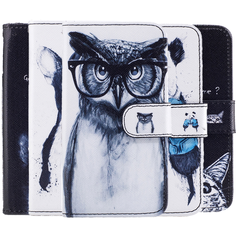 Leather Case sFor Samsung Galaxy A3 2017 A320 A320F Phone Covers Owl Dog Cover Wallet Phone Bags For Samsung A5 2017 A520 A520F