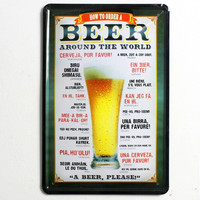 Beer vintage home decor metal Tin signs malt decorative plaques for bar wall art craft 20X30CM SP-JL-061