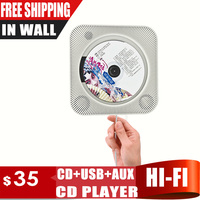 In Wall Mounted CD Player Support CD USB 3 5mm Stereo Audio Out