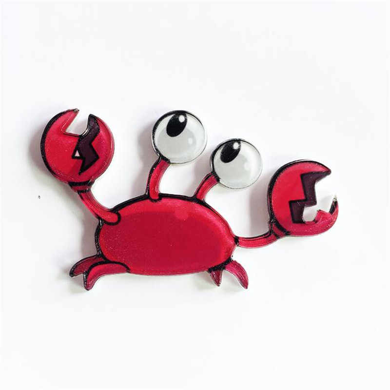 Maxsin Fun 1 PC Cartoon Crab Lady Milk Box Brooch Acrylic Badges Icons on The Backpack Pin Badge Decoration Badges for bags
