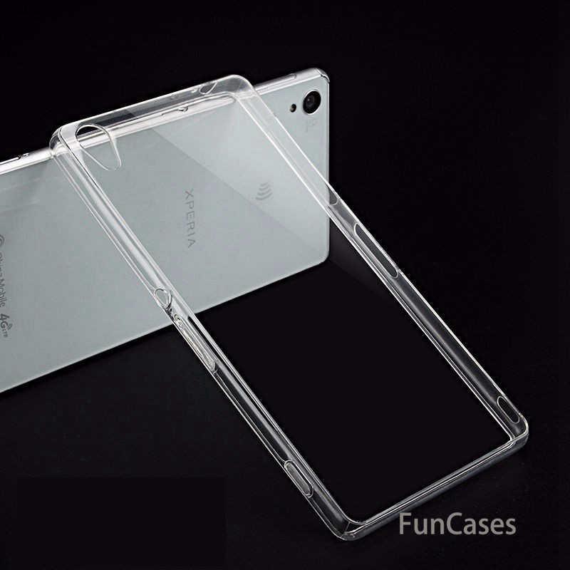 Ultra Tipis Lembut TPU Transparan Case untuk Sony Xperia XA Z1 Z2 Z3 Z4 Z5 XA1 L1 L2 XA2 Jelas silikon Penutup Belakang Ponsel Kasus Shell