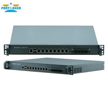 1U network Firewall Router System with 8 ports Gigabit lan 4 SPF Intel i3 4160 3.6Ghz Mikrotik PFSense ROS Wayos 4G RAM 64G SSD 1