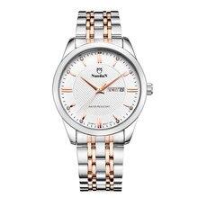 Niños Relojes de Moda de Lujo Para Hombre Reloj de Cuarzo Resistente Al Agua la Semana Display Reloj de Acero de Los Hombres Caballeros Relojes