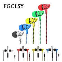 FGCLSY Wired Sport Earphone 3.5mm Headphones For iPhone 6 6s 5s Handfree MP3 MP4 Headset Earbud with Mic For Samsung Huawei(China)