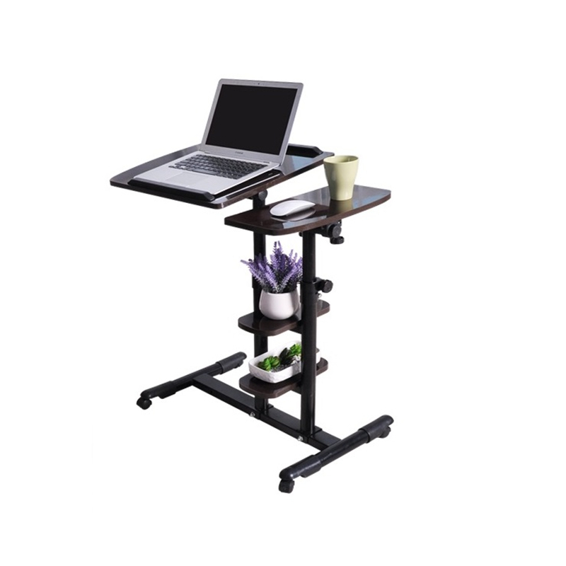 A movable folding Wo language notebook desk, comter desk on bed to simple lazy bedside table FREE SHIPPING bsdt and one hundred million to reach the notebook comter office desktop home simple mobile learning desk free shipping
