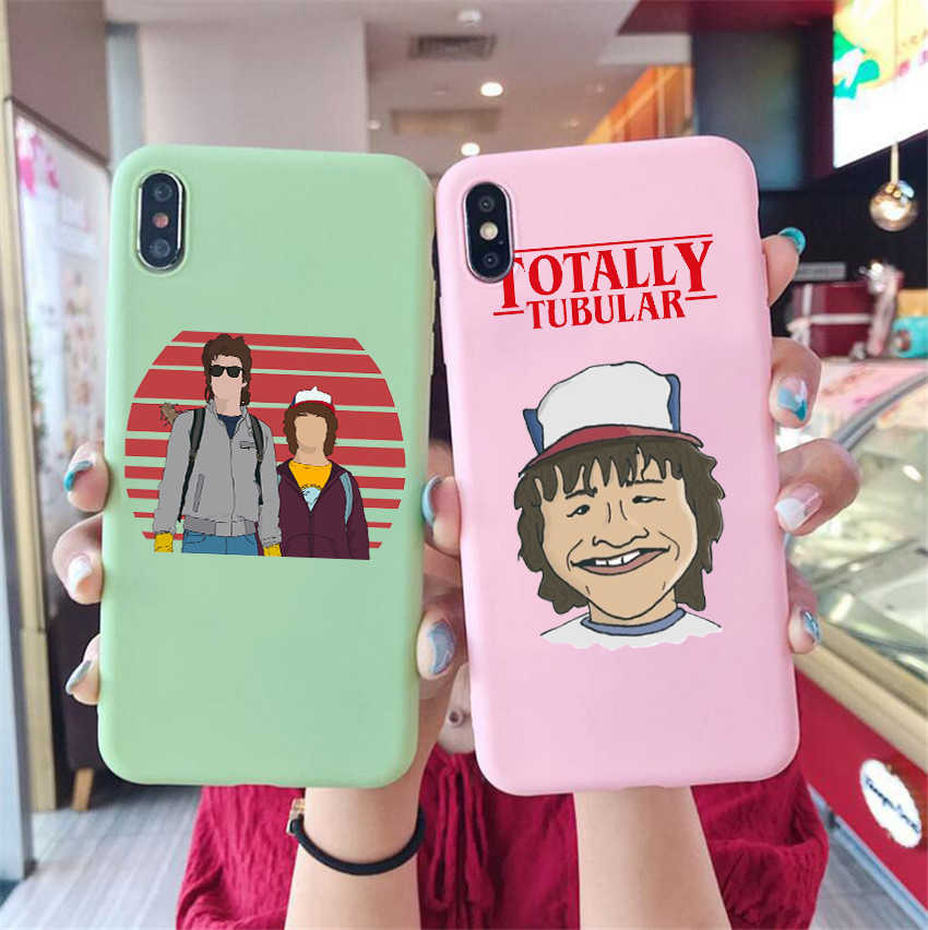 Dustin And Steve Candy Color Tpu Case Phone For Iphonex 7 8 Xs Xr Xsmax Stranger Things Season 3 Scoops Ahoy Case Cover