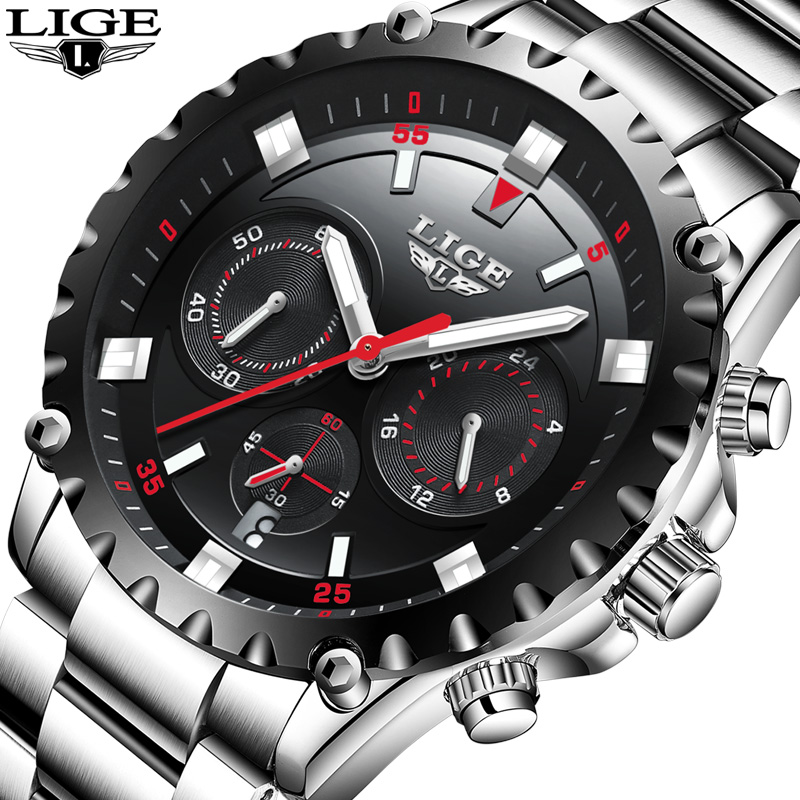 2017 LIGE Watch Men Waterproof Sport Quartz Clock Male Watches Top Brand Luxury Full Steel Business Wristwatch relogio masculino relogio masculino lige men watches top brand luxury fashion business quartz watch men sport full steel waterproof wristwatch man