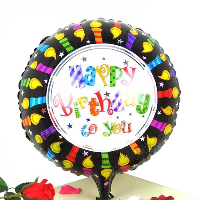 18 Inch Happy Birthday To You Cake Foil Balloon Lovely Round Mylar Balloons For Kids Birthday Party Decoration In Ballons Accessories From Home
