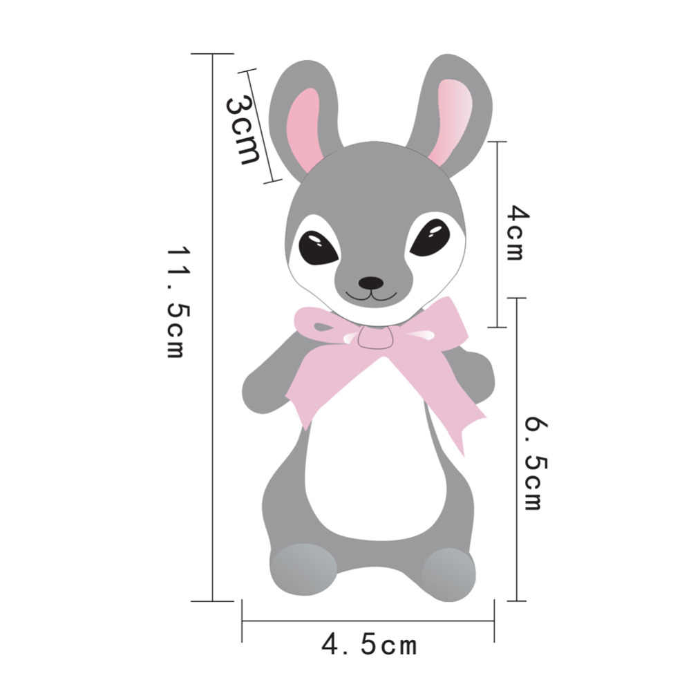 Feltsky อีสเตอร์กระต่ายชุดคิ้วเข็มชุดชุดของขวัญอะคริลิค 15x9.5 ซม. - เข็ม, finger Guards, โฟม, คำแนะนำ