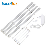 24V 2PCS 4PCS 50CM Led Bar Light Aluminium Profile Kitchen Lighting iTouch Sensor Ultra Thin Under Cabinet Light LED strip mount