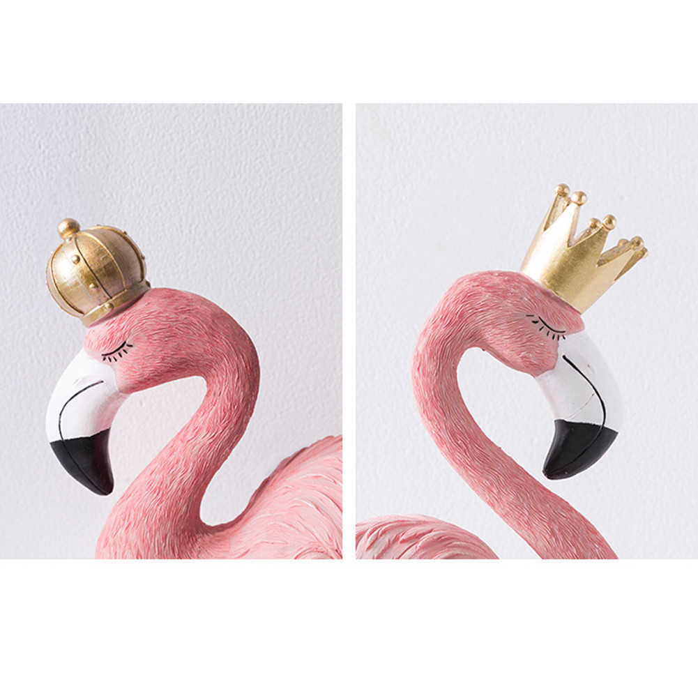 Flamingo Ornaments Home Decor Resin Pink Flamingo King Queen