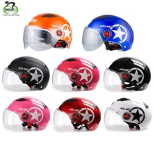 цена на Mountain Bike Cycling Bicycle Helmet Sports Safety Protective Helmet Transparent lens MTB Cycling Sports Safety Helmet 56-61cm